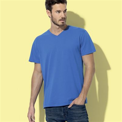T-SHIRT COLLO A V COLORATA
